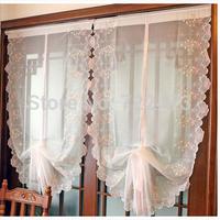 customize Pink bow balloon window screening curtain rise and fall balloon curtain yarn rustic curtain yarn