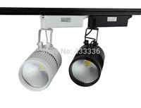dimmer rail track 20W warm/day/cold / pure white lustre preto led wholesale 30pcs spot lampada de teto Free shipping
