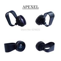 Apexel wholesale 20 set/lot mobile phone Lens olho de peixe lente 180 degree Fisheye Lens for iPhone 6/5S &Samsung APL-FCFE180