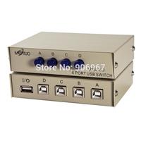 High Quality USB 2.0 Hub 4 Ports Share Switch Switcher Selector Box Hub For PC Scanner Printer usb hub