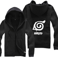 Anime NARUTO 02 Zipper Sweatshirt Suit The Autumn long sleeve hoody Outerwears tshirt