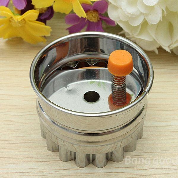 Fastship coração de aço inoxidável em forma cortador de biscoitos de imprensa Biscuit cortador Mold(China (Mainland))
