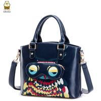 Ibag New arrival cartoon owl handbags useful women  messenger bags high quality PU leather shoulder bags
