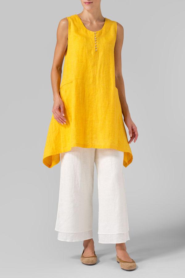 Das mulheres solto Natural de linho vestido das mulheres Plus Size roupa vestido sem mangas de linho moda verão vestido de uma peça grande tamanho WL1968(China (Mainland))