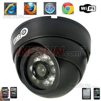 Cctv 1/5 Color CMOS M-JPEG 3.6 mm lens 8 Leds Indoor rede IP câmera Dome IR visibilidade noturna de até 15 metros(China (Mainland))