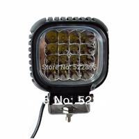 "5"" 48W CREE 16-LED*(3W CREE) Work Light Square Off-Road SUV ATV 4WD 4x4 Boat Driving Spot Flood Beam 3800lm 9-32V LIGHT"
