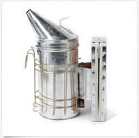 Stainless Steel Bee Hive Smoker with Heat Shield Beekeeping Tool Equipment