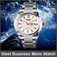 1Pcs 30m Waterproof Luminous Watches Brand Calendar Watch Stainless Steel Business Mens Watch Leisure Fashion Lovers Table Women