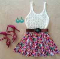 vestidos 2015 women dress New fashion lace mini summer dress vestido de festa party dresses