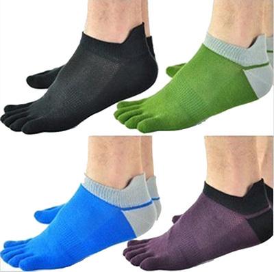 1 Pair/Lot New Men's Socks Cotton Meias Sports Five Finger Socks Toe Socks For EU 40-46 Calcetines Ankle Sok OM(China (Mainland))