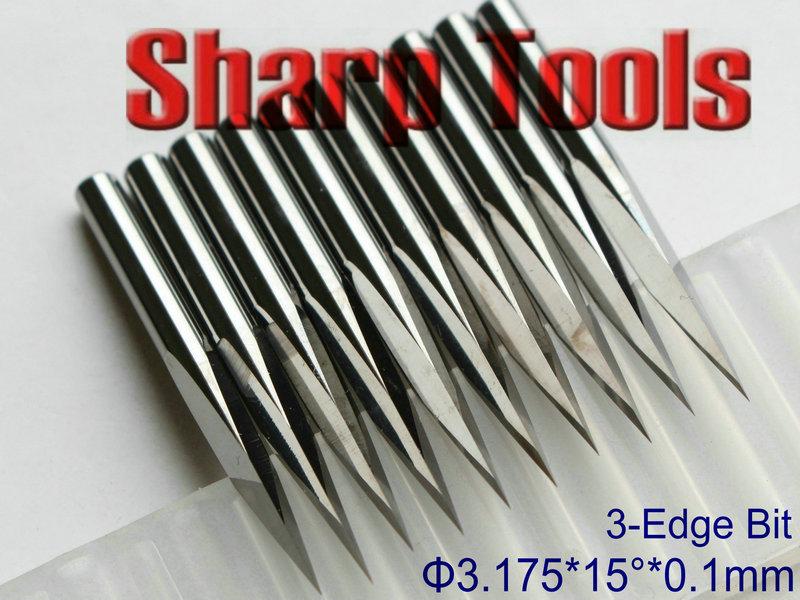 Фрезы SHARP 3.175 * 0.1 15 3/pcb cnc, ST3-SL1501