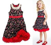 Fashion Baby Girls Broken Flower Beautiful Dress Princess Party Children Dresses Sleeveless Cool and Refreshing Summer Dress