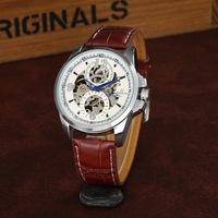 Free shipping! High quality fashion cool mechanical wrist watches men, Trendy causal top grade leather quartz watch women