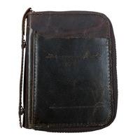 Vintage Casual Men wallets Genuine Leather Cowhide Men Short zipper wallet belt purse crazy Horse Leather Coin Purse