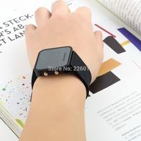 Wholesale Fashion Silicone Led Digital Watch ,men women LED Mirror Wrist Watch 2015
