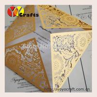 INC105--- Best price laser cut square luxury cards invitation
