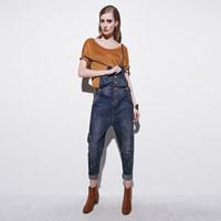 2015 Hot Spring New Jeans Rompers Jumpsuit Woman Trousers Loose Casual Pencil pants Overalls Cotton Harem Slim Plus Size 2XXL
