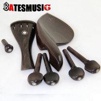 violin Part 4/4 violin/Fiddle Polished Ebony Pegs & End Pin,  Vintage Design Polished EbonyTP Project