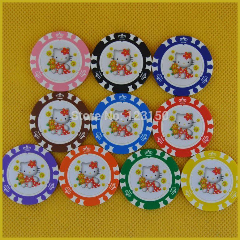 цена Фишки для покера ROYALE CASINO 14g 6006/50 /, 6006-Hello Kitty