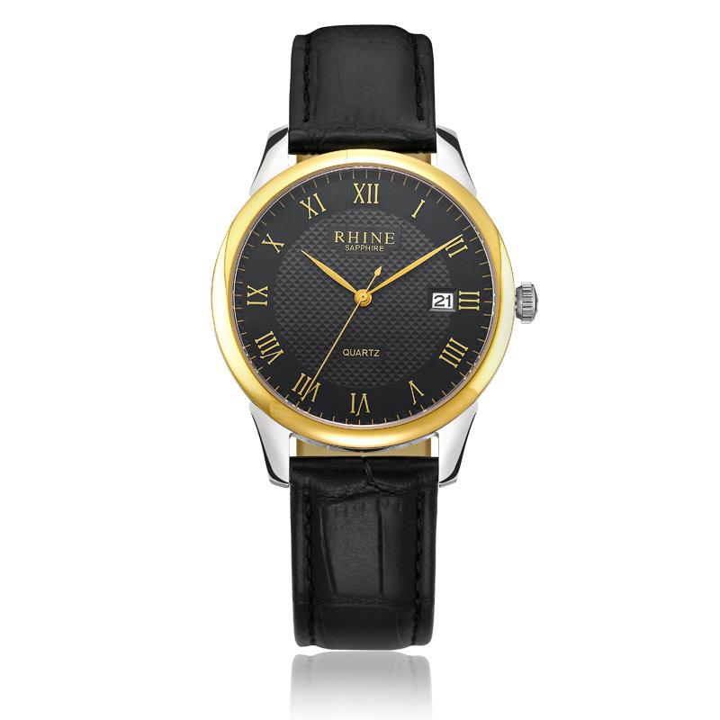 2015 Top Fashion Sale Watches Rhine Men's Fashion Leisure Switzerland Counter Retro Sports Quartz Leather Waterproof Watch Men(China (Mainland))