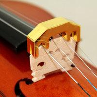 CHROME VIOLIN PRACTICE MUTE - ALMOST SILENT Metal Practice Mute for Violin & Viola yellow