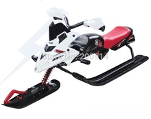 sled for kids and adults snowboard snow scooter snow motorcycle sledge ski car sleigh with brake(China (Mainland))