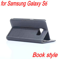 50pcs/lot For S6 Cover Retro Luxury Top Quality PU Leather Case For Samsung Galaxy S6 Flip Wallet Case Book Stand Card Slot