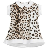 2015 new baby dress leopard print Jersey dress girls dresses kids clothes princess casual dress baby clothing