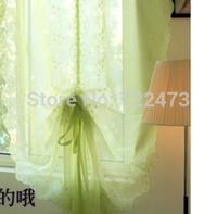 Green balloon window screening curtain roman curtain yarn the finished curtain rise and fall tulle curtain