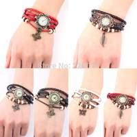 1Pcs Watch Leaf Bracelet Watch Quartz Movement Wrist Watch Girl Women