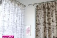 Modern thickening cloth newspaper curtain yarn bedroom curtain full sun-shading shade cloth window screening finished product