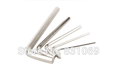 100pcs/Lot Nickel Plating Carbon Steel M2 Hex Key Allen Wrench Spanner Fixing Tools Free Shipping(China (Mainland))