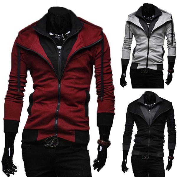 Sports Hooded Jacket Casual Winter Jackets Hoody Sportswear Hip Hop Jacket Men's Clothing Hoodies Sweatshirts Sports Suit Men(China (Mainland))