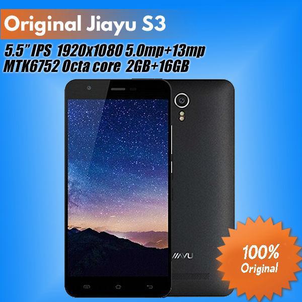 Мобильный телефон Jiayu S3 FDD LTE 5,5' IPS MTK6752 1,7 Android 4.4 OS 2 /3GB + 16 13.0mp GPS OTG jiayu f1