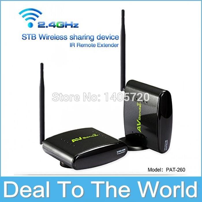 Hot Sales 2.4G AV Wireless TV Antenna Transmitter For Radio Station AV Receiver Pat-260 Wireless IR Remoter Extender Up To 350M(China (Mainland))