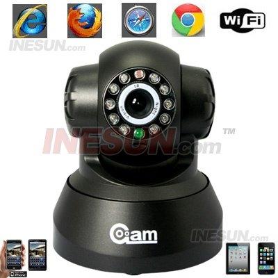Sem fio / com fio IP IR câmera de rede WIFI PT Indoor cor câmera de segurança visibilidade noturna de até 15 Mete(China (Mainland))