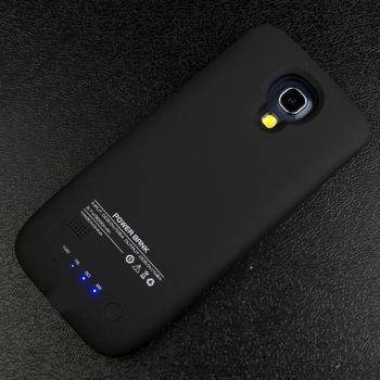 3000 мАч внешнее зарядное устройство резервного копирования флип кожаный чехол пакет зарядное устройство для Samsung S4 мини i9190 BC257B-SZ