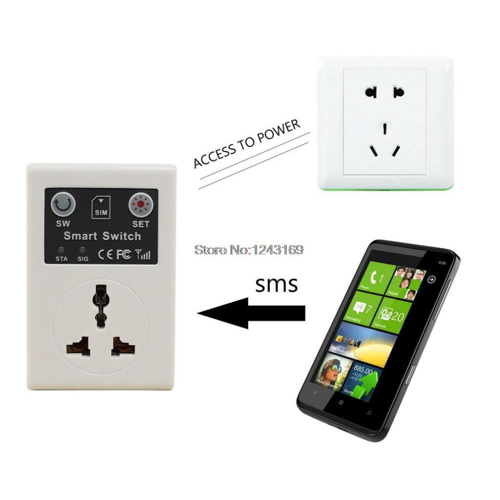 Smart GSM Switch Power Socket Phone Remote Control Electrical Appliances EU Plug BC312-SZ(China (Mainland))