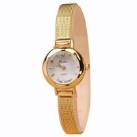 Free shipping! Latest fashion luxury gold full stainess steel quartz watch women, Trendy casual wrist watch