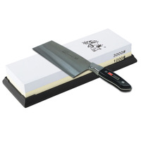 TAIDEA 1000/3000 Grit Combination Corundum Whetstone Dual-sided Knife Sharpening Stone for Kitchen Knives Sharpeners