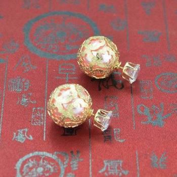 Самые свежие старинные большой жемчужные серьги двойной сторона формы шарика серьги стержня YE736