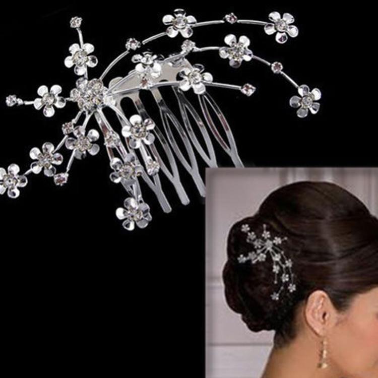 Горный хрусталь расчёска вставляется клип повязка на голову пром свадьба свадебные ювелирные изделия