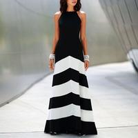 New Sexy BOHO Stripe Long Party Dress  Women's Summer Maxi Dress