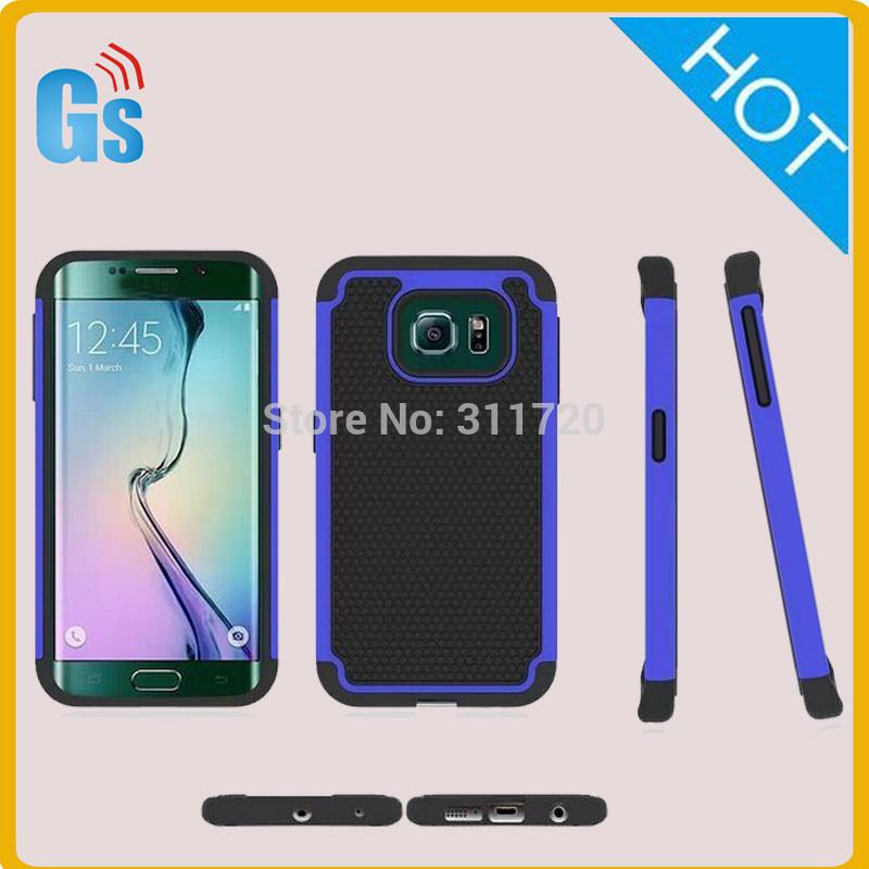Alibaba Website Hybrid Rubber Soft Hard Case For Samsung Galaxy S6 Edge G9250 G925F(China (Mainland))