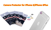 100pcs/lot wholesale i 6/6 Plus camera protector Metal Protective Ring for iPhone 6/6 Plus camera lens Protector free shipping