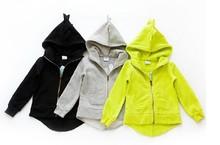 New 2014 The dinosaur hoodies kids jackets coat boys girls outerwear baby spring autumn winter Long