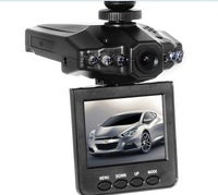 """Free shopping HD198 Car Camera 6 IR LED Car video recorder for night vision Car DVR with 2.5"""" LCD add TFT 16G 32G SD Memory card"""