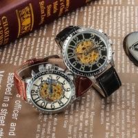 Free shipping! Luxury mechanical wrist watches men, top grade leather quartz watch women