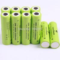 10PCS New VAPPOWER IMR18650 18650 High Drain 3200mAh Rechargeable Li-Ion Battery 10A Free Shipping