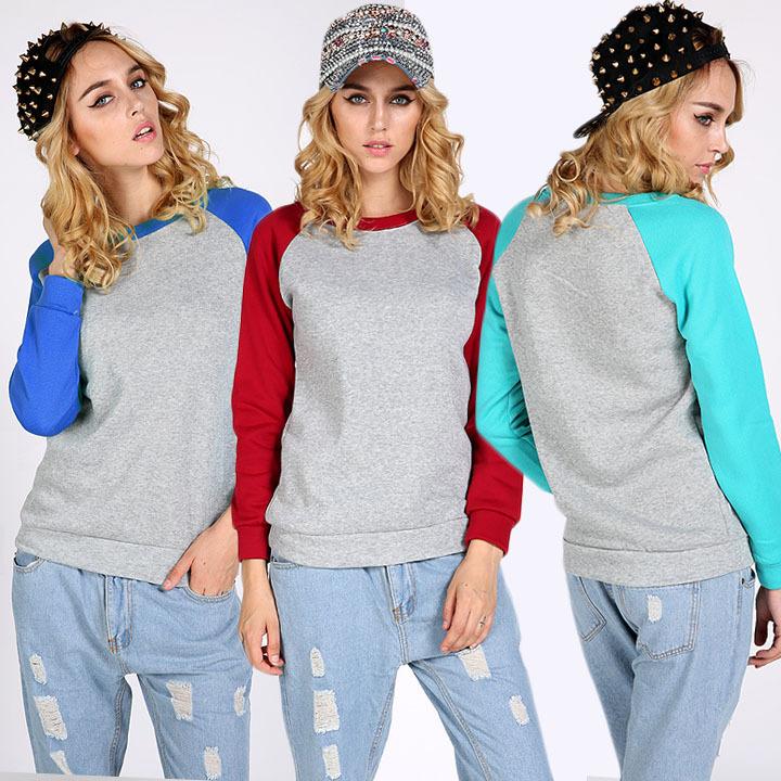 Женские толстовки и Кофты Girl sweatshirt 2015 patwork QAF153 женские толстовки и кофты sweatshirt 2015 2 sportwear